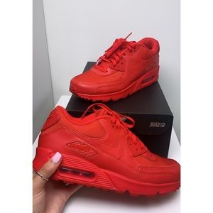 Customized all red mike air max, worn twice